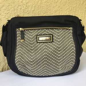 Calvin Klein Black Stripe Nylon Crossbody Bag